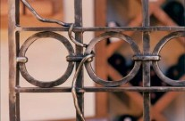 Custom Wine Cellar Gate Detail