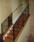 Handrail and Hand Forged Railing Combination