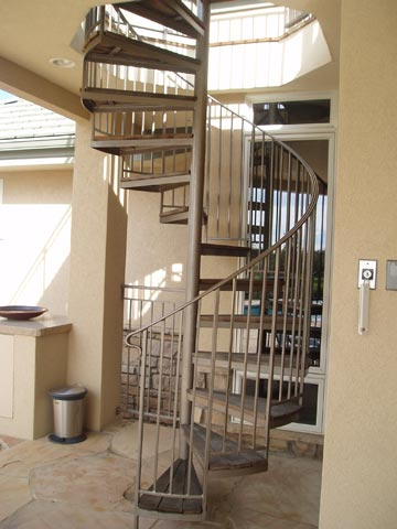 Pool Deck Spiral Staircase
