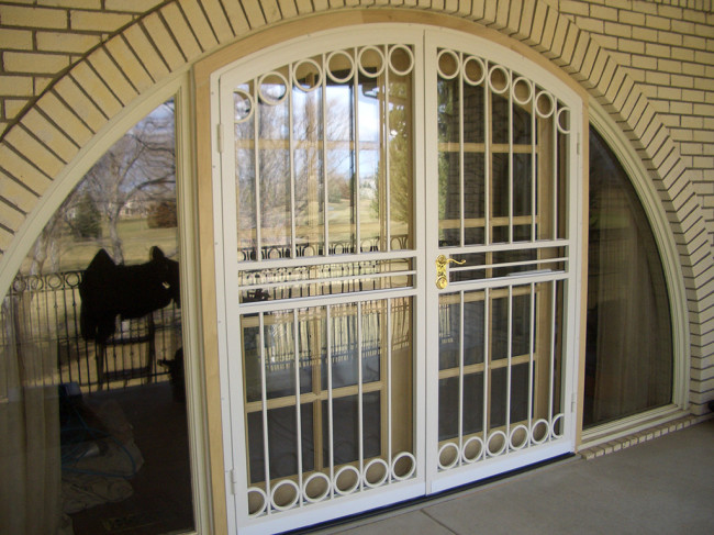 custom metal security doors