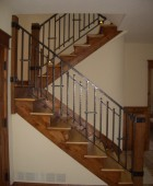 Hand forged pierced bar railing