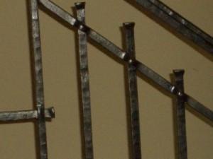 Pierced bar railing detail