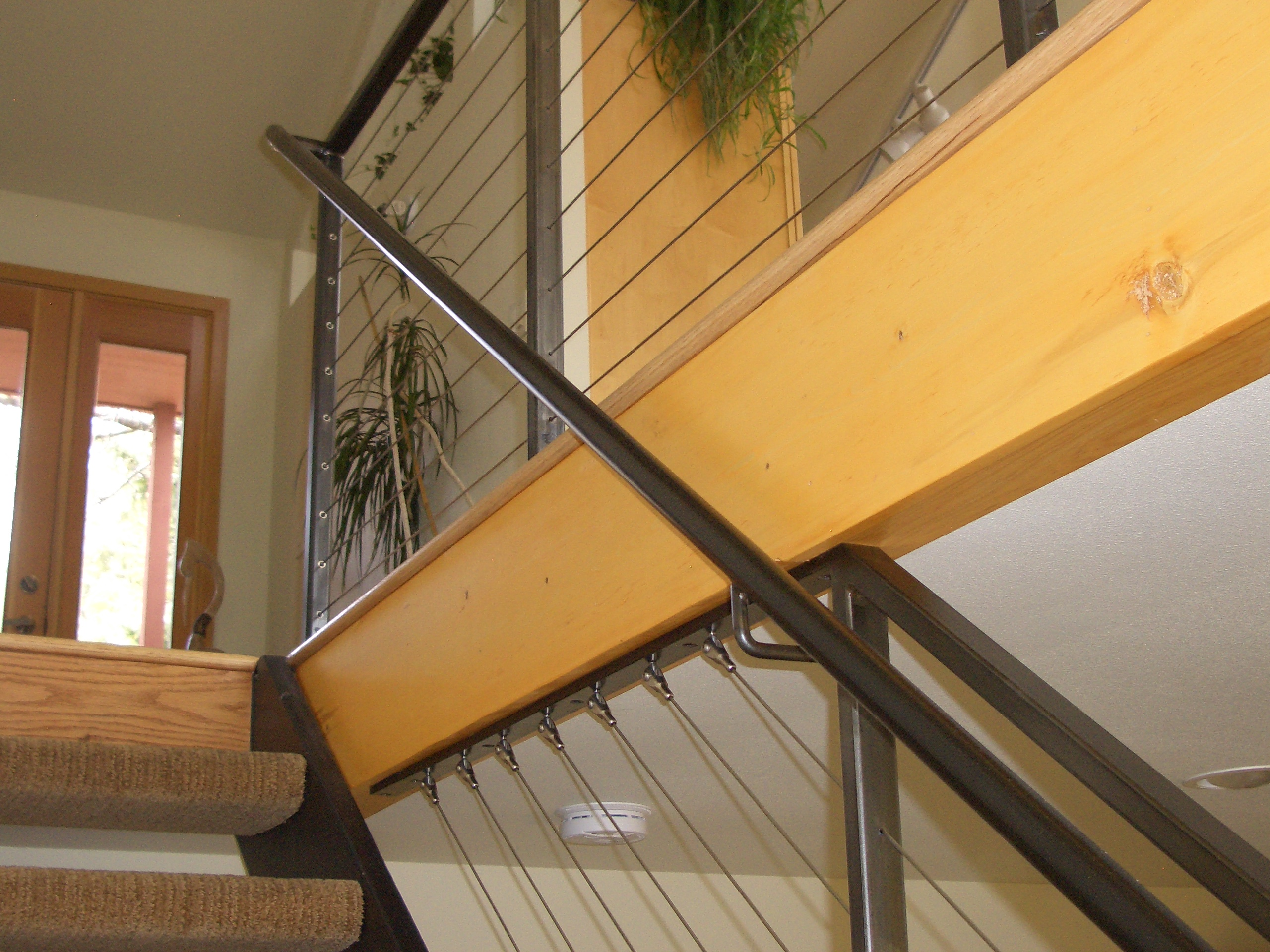 Interior Cable Railing With Continuous Stair Hand Rail Mclean Forge And Welding