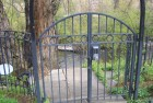 Arched Garden Gates with matching fencing