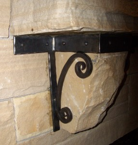 mantle bracket detail