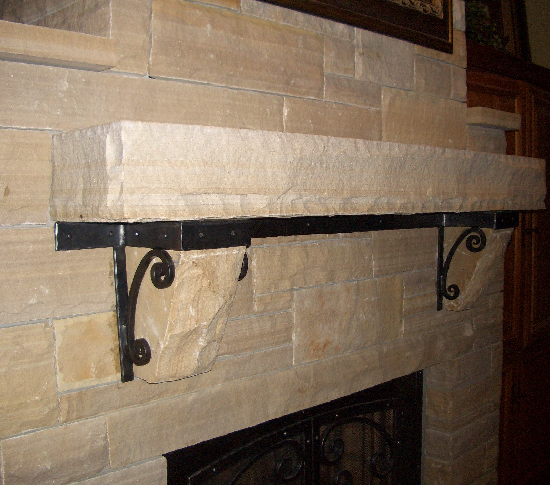 Fireplace Mantle Brackets