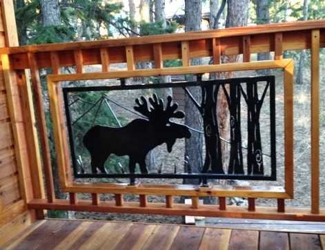 Moose sculpture infill panel