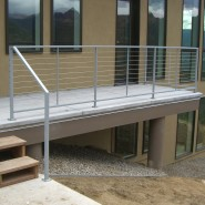 New construction exterior cable railing system