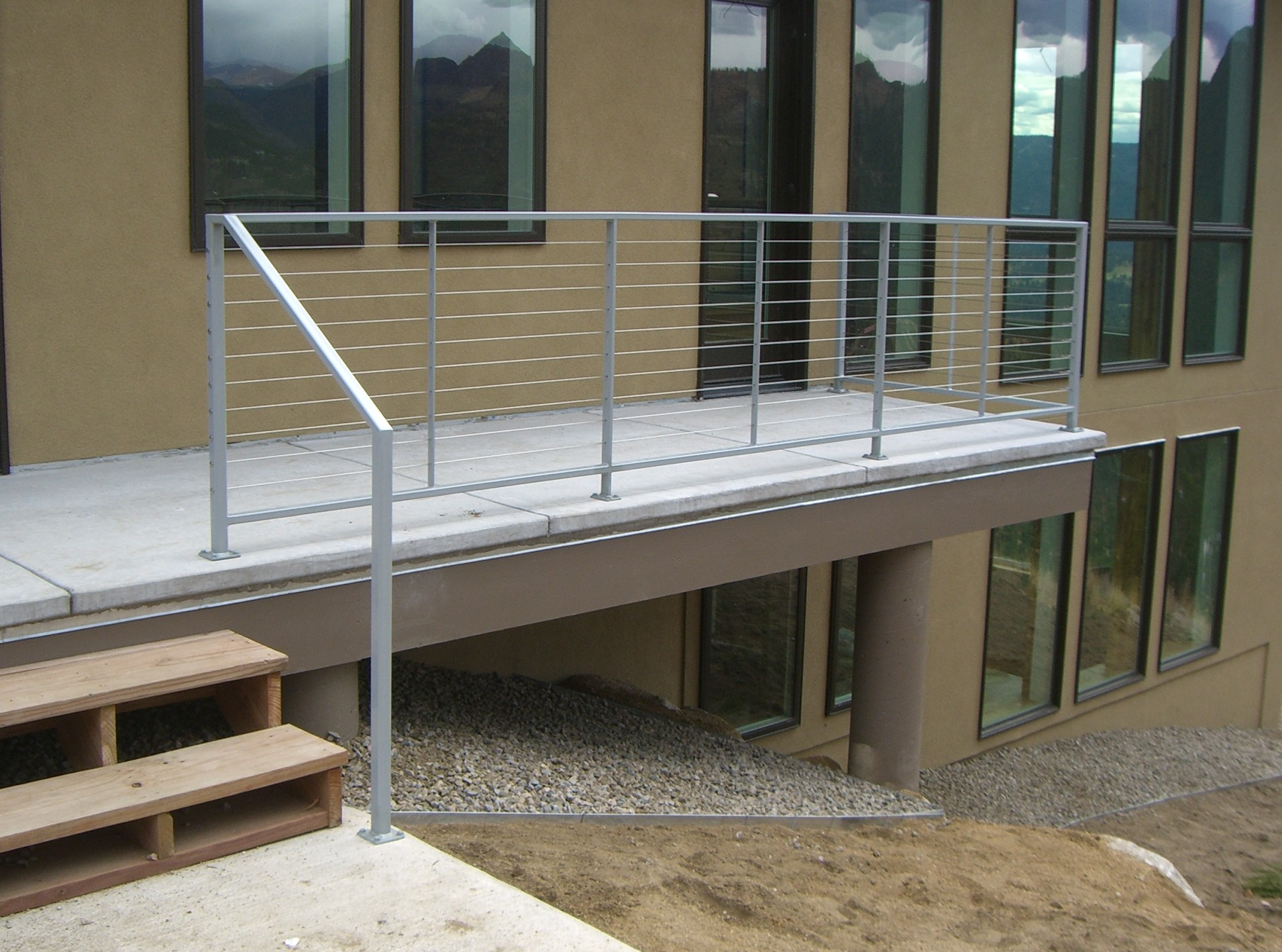 New Construction Exterior Cable Railing System Mclean