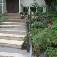Curved Exterior Handrails