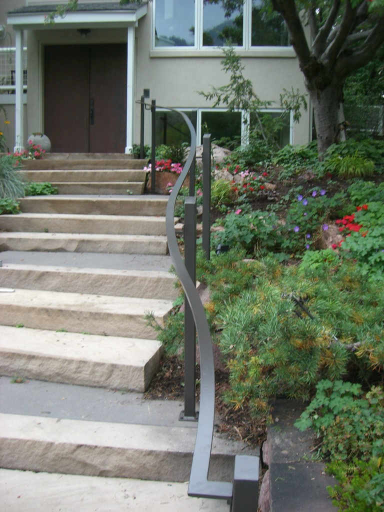 Curved Exterior Handrails Mclean Forge And Welding