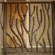 """Organic"" branch design hand forged railing"