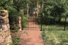 Hoop and Fleur-De-Lis Gate